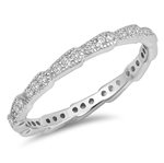 Silver CZ Ring - $4.65