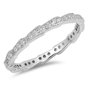 Silver CZ Ring - $5.12