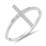 Silver Ring W/ CZ - Cross - $5.29