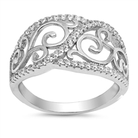 Silver CZ Ring - $7.67