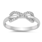 Silver CZ Ring - Infinity - $6.4