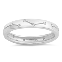 Silver Ring W/ CZ - Constellation Band - $5.77