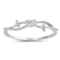 Silver CZ Ring - Heart - $2.86