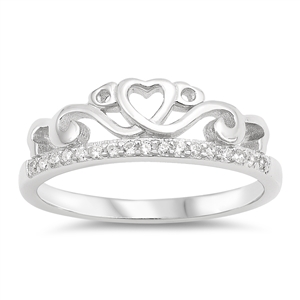 Silver Ring W/ CZ - Crown