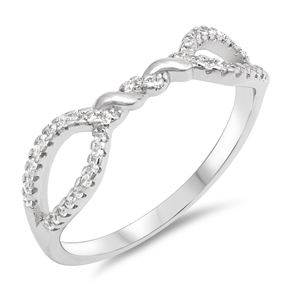 Silver Ring W/ CZ - Knot - $4.74