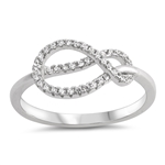 Silver Ring W/ CZ - Knot - $5.38