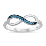 Silver CZ Ring - Infinity - $4.65