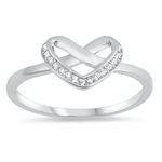 Silver CZ Ring - Heart - $4.16