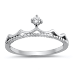 Silver CZ Ring - Crown - $3.71