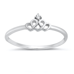 Silver CZ Ring - Crown - $2.78