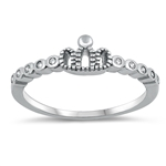 Silver CZ Ring - Crown - $3.18