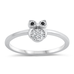 Silver CZ Ring - Owl - $4.19