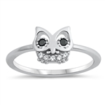 Silver CZ Ring - Owl - $4.70