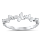 Silver CZ Ring - Butterfly - $3.68