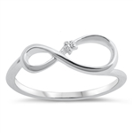Silver CZ Ring - Infinity - $4.00