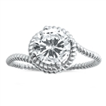 Silver CZ Ring - $5.00