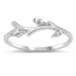 Silver CZ Ring - Branch - $3.83