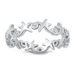 Silver CZ Ring - Starfish - $4.06