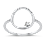 Silver CZ Ring - $3.35