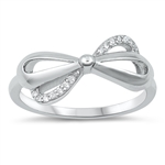 Silver CZ Ring - Bow - $4.87