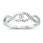Silver CZ Ring - Linking Infinity - $5.26