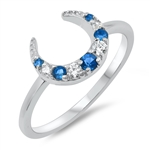 Silver CZ Ring - Moon - $5.09