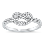 Silver CZ Ring - Knot - $7.17