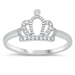 Silver CZ Ring - Crown - $4.18