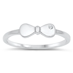 Silver CZ Ring - Bow - $3.16