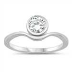 Silver CZ Ring - $4.12