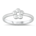 Silver CZ Ring - Flower - $3.65
