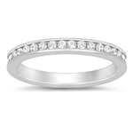Silver CZ Ring - Eternity - $5.66