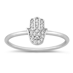 Silver CZ Ring - Hand of God - $3.86