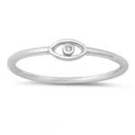 Silver CZ Ring - Eye - $2.85