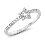 Silver CZ Ring - Open Star - $3.47