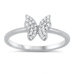 Silver CZ Ring - Butterfly - $5.51