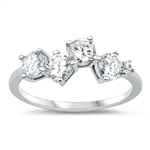 Silver CZ Ring - $4.45