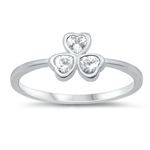 Silver CZ Ring - Clover - $3.68