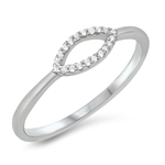Silver CZ Ring - $3.25