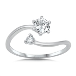Silver CZ Ring - $4.49