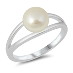 Silver CZ Ring - Pearl - $4.93