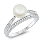 Silver CZ Ring - Pearl - $5.54