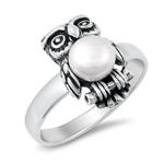 Silver CZ Ring - Owl - $6.87