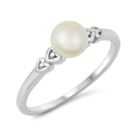 Silver CZ Ring - Freshwater Pearl - $3.59
