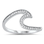 Silver CZ Ring - Wave - $4.94