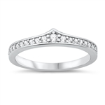 Silver CZ Ring - $4.70