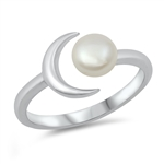 Silver CZ Ring - Pearl - $4.89