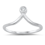 Silver CZ Ring - $3.45