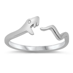 Silver CZ Ring - Snake - $3.59