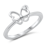 Silver CZ Ring - Butterfly - $4.09